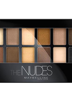 Палетка тіней від maybelline ny the nudes