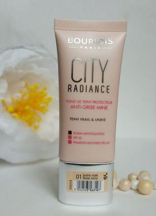 Bourjois city radiance spf30 тональный крем