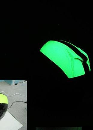 Светящаяся краска для пластмассовых поверхностей