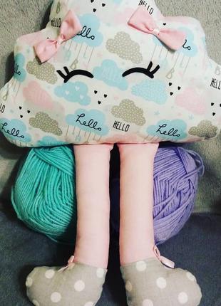 Подушка тучка, подушка игрушка, хмаринка, текстильная игрушка,...