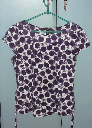 Яркая летняя блуза h&m