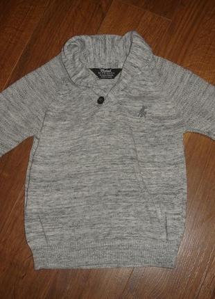 Фирменный rebel свитер пуловер мальчику 3-4 лет