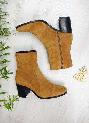 Сапоги квадрантный носок ботинки осень/весна горчичные