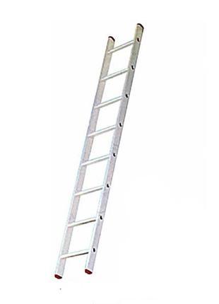 Алюминиевая односекционная приставная лестница на 8 ступеней