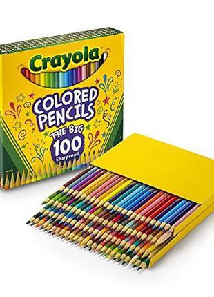 Crayola Цветные карандаши 100 цветов Different Colored Pencils...