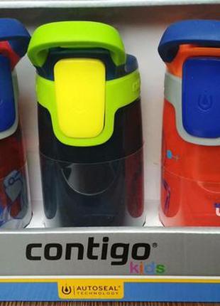 Детская бутылка непроливайка Contigo Autoseal Gizmo Kids, 14oz...