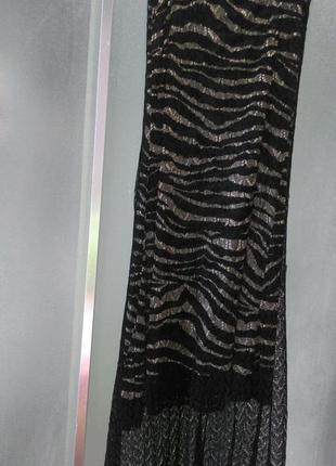 Платье без бретелей,сарафан вязанное тонкое кружево италия