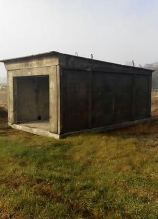 Бетонные гаражи