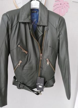 Кожанная куртка-косуха италия