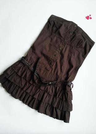 Лёгкое платье-бюстье, сарафан без бретелей, молодежная одежда