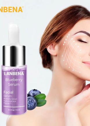 Сыворотка Lanbena Blueberry Serum, с гиалуроновой кислотой