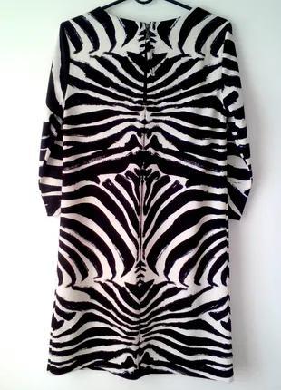 Черно-белое стильное платье с укороченным рукавом #розвантажуюсь