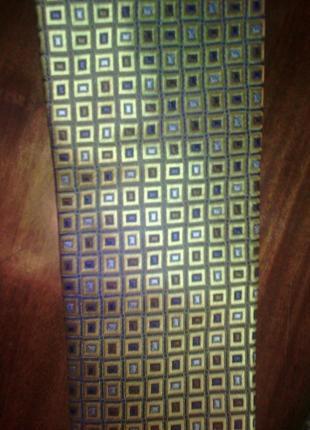 Стильный золотой в клетку, галстук