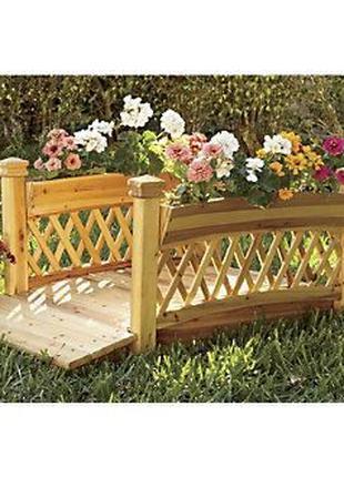 Мостик деревянный декоративный садовый под заказ от производителя