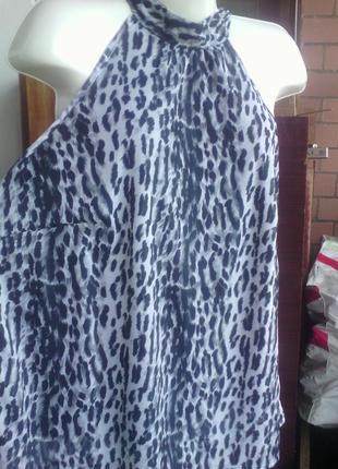 Блуза леопардовая на подкладке размера плюс  плюс сайз евро 52...