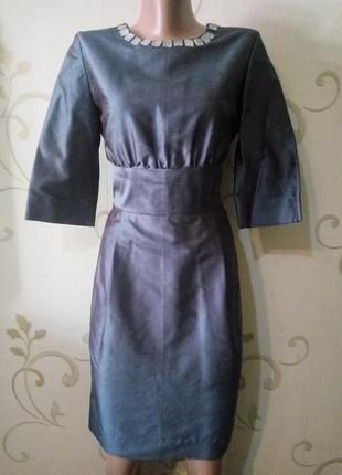 Красивое шелковое платье футляр от barbara chardon . 100% шелк...
