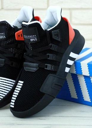 Кроссовки adidas black & red eqt bask adv мужские
