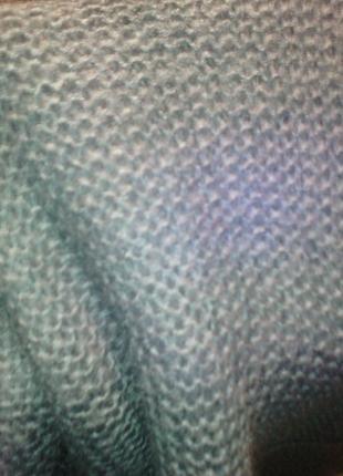 Мягчайший шарф хомут на голову серо голубой цвет под джинсу ор...