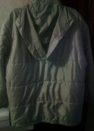 Куртка стеганая утепленная серо- стального цвета размер написа...