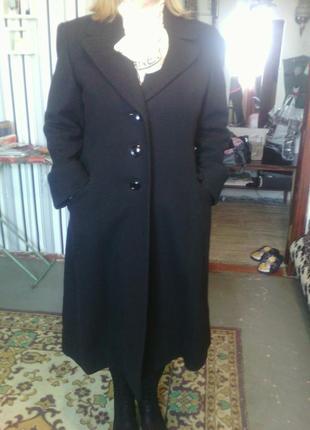 Шикарное черное шерстяное пальто без бирок евро 40 укр 48 деше...