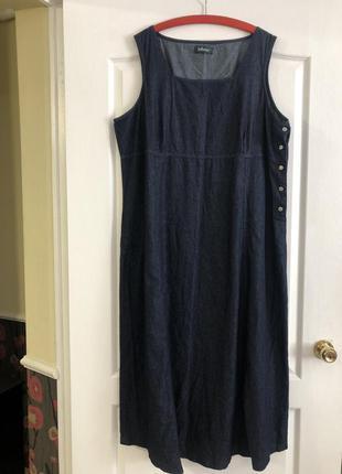 Джинсовое платье сарафан tailissime большой размер, новое!