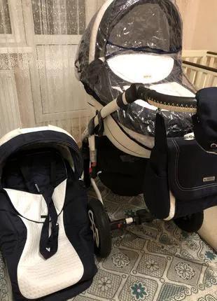 Детская коляска 2 в 1 Adamex Barletta (Польша) универсальная