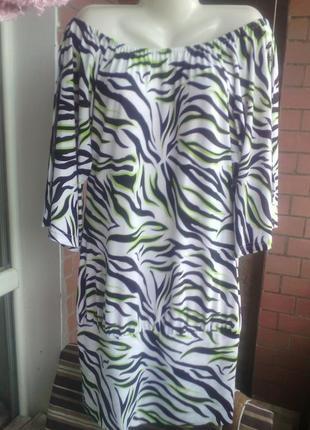 Классное платье туника размера плюс сайз евро 44-46 укр 52-54-56