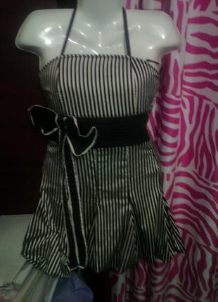 Коктейльное платье-бандо для девочки подростка