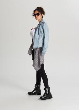Синяя куртка, косуха экокожа от cropp town
