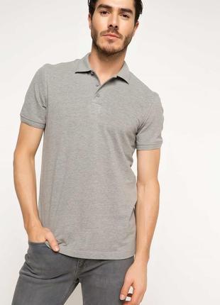 2-63 мужская футболка поло defacto