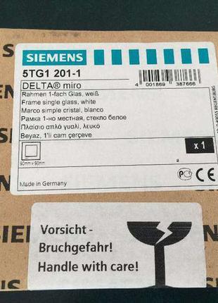 Рамка одинарная Siemens DELTA Miro 5TG1 201-1, стекло белое