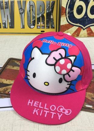 13-74 снепбэк 3d hello kitty детская бейсболка кепка панамка