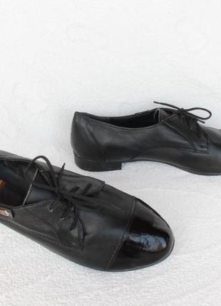 Кожаные туфли на шнурках, оксфорды, дерби, броги 36 размера