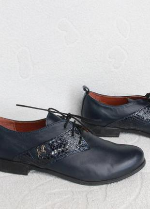 Кожаные туфли на шнурках, оксфорды, броги, дерби 36, 38 размера
