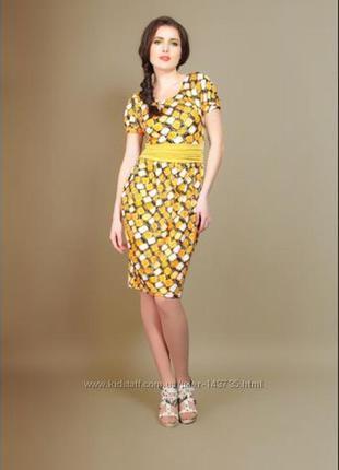 Эффектное летнее платье с широким поясом essa - украинский  бренд