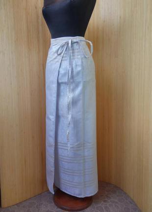 Длинная летняя юбка парео/ тайский шелк /юбка саронг