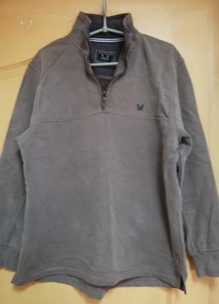 Оригинальная тёплая хлопковая кофта CREW CLOTHING Co   размер M