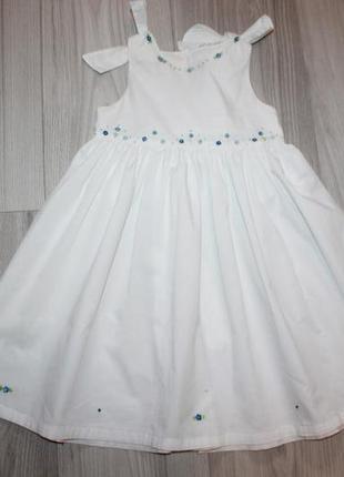 Barbara giacobini белоснежное платье на 3 года италия