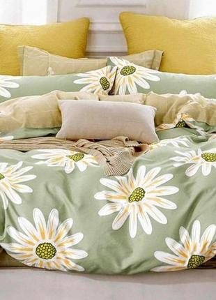 Комплект постельного белья ромашки ткань бязь