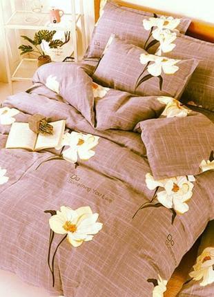 Набор постельного белья с цветами бязь