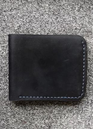 Кожаный кошелек, синий