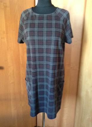 Платье в клетку с коротким рукавом р.50 new look