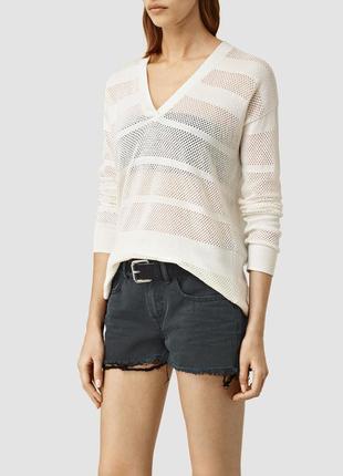 Allsaints брендовый новый джемпер#пуловер#свитер#кофта, лен#хл...