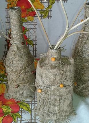 Декоративная  хенд мейд ваза-стильная деталь интерьера.
