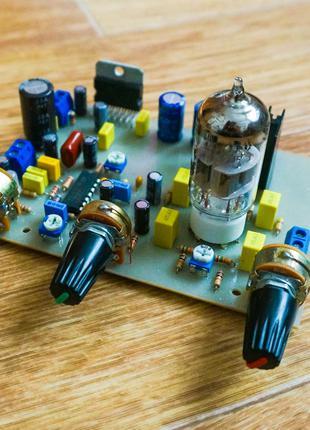 Ламповый гибридный усилитель 2.1 с сабвуфером 10+10+20Вт