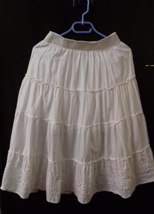 Летняя белая юбка next