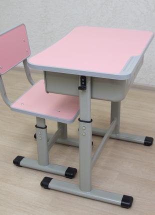 Парта шкільна і стілець (комплект) висота змінна