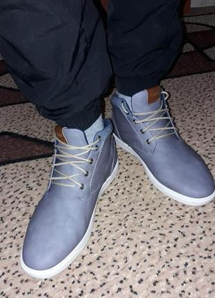 Ботинки мужские кроссовки кеды демисезон крутые кожзам