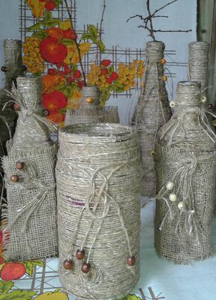 Декоративная ваза хенд мейд- стильное украшение интерьера