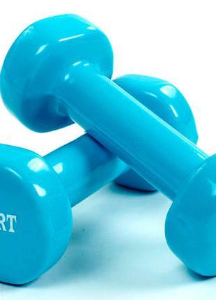 Набор для фитнеса гантели 3+1 кг, утяжелители 1,5 кг
